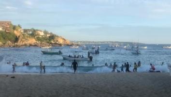 Playas de Oaxaca saturadas pese a tercera ola de Covid-19 en México