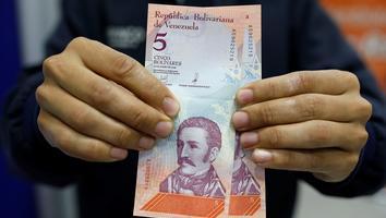 Venezolanos reciben nuevos billetes tras protesta opositora