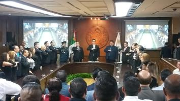 Otorga Monterrey Medalla al mérito Diego de Montemayor a la memoria del Comandante Andrés Molina