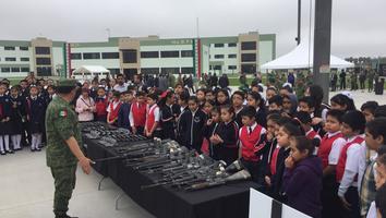 Destruye Ejército Mexicano 900 armas en la Séptima Zona Militar
