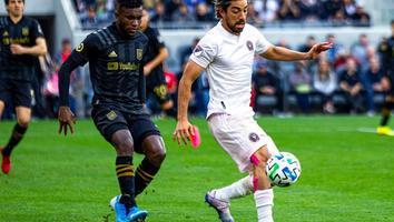 Pizarro durante un partido con el Inter Miami