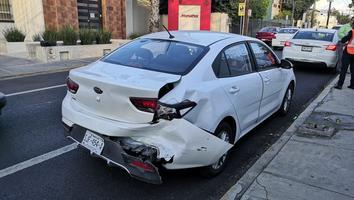 Falla mecánica provoca un choque múltiple en la avenida Venustiano Carranza