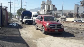 Reportan intransitable la vía Matamoros en San Nicolás