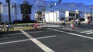 Habilitan nuevamente una ciclovía en la avenida Alfonso Reyes