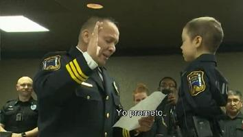 Abigail, la niña de 6 años con cáncer que se convirtió en oficial de policía