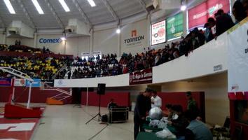 Junta de Reclutamiento en el sorteo de servicio militar en al Auditorio Municipal de Torreón.