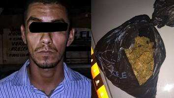 Detienen a un hombre por presunta posesión de drogaen la colonia La Unidad