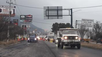 Cierran dos carriles por recarpeteo en la Carretera Nacional
