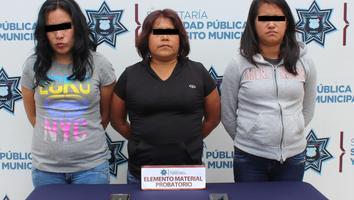 Caen cuatro mujeres por asaltar camiones urbanos