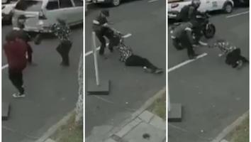 Mujer es golpeada y arrastrada por asaltante tras frustrar robo