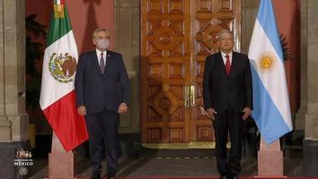 AMLO encabeza ceremonia de bienvenida a presidente de Argentina