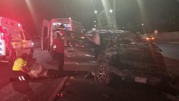 Conductor en presunto estado de ebriedad protagoniza aparatoso choque en Monterrey