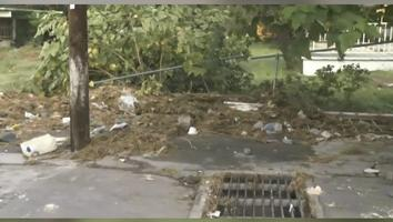 Cae barda de una escuela primaria debido al paso del agua que dejaron las lluvias en Guadalupe